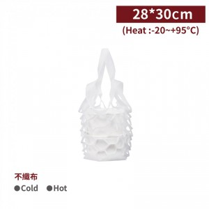 現貨【隨行布網袋 - 便當袋(白)】28*30cm 便當袋 提袋 - 1箱2000個 / 1包100個