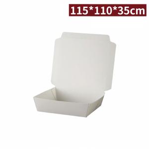 【白色吐司盒】11.5*11*3.5cm 紙餐盒 PE淋膜 防油 - 1箱600個/1條100個