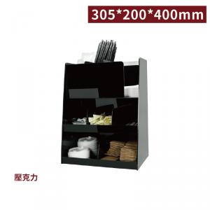 現貨【冷靜收納架(塔型8格)-黑色】壓克力陳列架 杯架 杯蓋架 外帶包材收納架