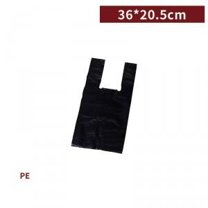 新品一週出貨【半斤背心袋 - 黑】36*20.5cm 塑膠袋 咪咪袋 市場袋 便當袋 - 1箱100包 / 一組10包