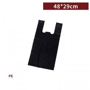 新品一週出貨【三斤背心袋 - 黑】48*29cm 塑膠袋 咪咪袋 市場袋 便當袋 - 1箱100包 / 一組10包