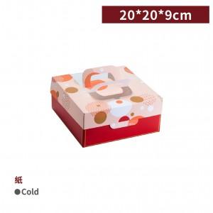 新品一週出貨【6吋開窗蛋糕提盒-日式和風(不含紙襯)】20*20*9cm 蛋糕盒 西點盒 紙盒 - 1包25個