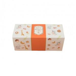 預購【抽屜式瑞士捲盒(小)-童趣橘(含內襯,不含紙袋)】餅乾盒 / 生乳捲盒- 1箱200個