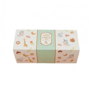 預購【抽屜式瑞士捲盒(小)-童趣綠(含內襯,不含紙袋)】餅乾盒 / 生乳捲盒- 1箱200個
