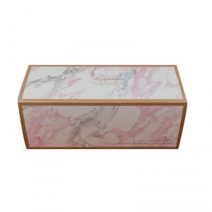 預購【抽屜式瑞士捲盒(大)-大理石(含內襯,不含紙袋)】餅乾盒 / 生乳捲盒- 1箱200個