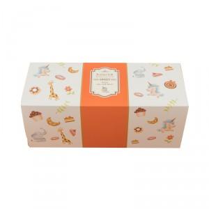預購【抽屜式瑞士捲盒(大)-童趣橘(含內襯,不含紙袋)】餅乾盒 / 生乳捲盒- 1箱200個