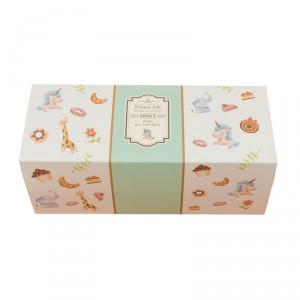 預購【抽屜式瑞士捲盒(大)-童趣綠(含內襯,不含紙袋)】餅乾盒 / 生乳捲盒- 1箱200個