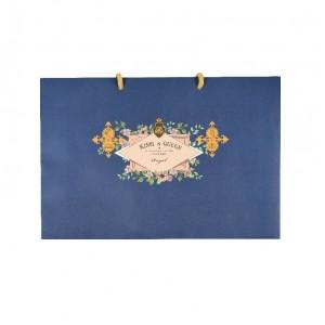 預購【精緻手提袋(窄)-皇家藍】禮盒提袋 / 手提紙袋- 1箱200個