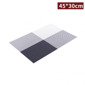 預購【餐桌墊 - 田字格 45*30cm】黑白色 隔熱 防油 可重覆使用 - 1箱300片