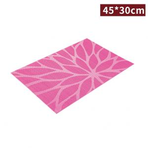 新品預購【餐桌墊-緹花 45*30cm】桃紅色 隔熱 防油 可重覆使用 - 1箱 300片