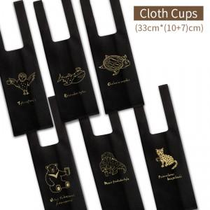 【REUSE布杯袋 (1杯)-用愛守護】六款混搭 不織布 飲料杯袋 - 1箱1500個/1組300個