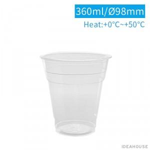 【PET-真空杯12oz/360ml】【箱/1000個】98口徑 飲料杯 透明杯 塑膠杯 不可封膜