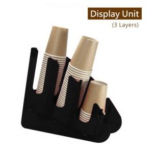 限量商品【冷靜收納架(圓角斜3格)-黑色】壓克力陳列架 杯架 杯蓋架 外帶包材收納架