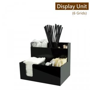【冷靜收納架(複合直6格)-黑色】壓克力陳列架 杯架 杯蓋架 外帶包材收納架