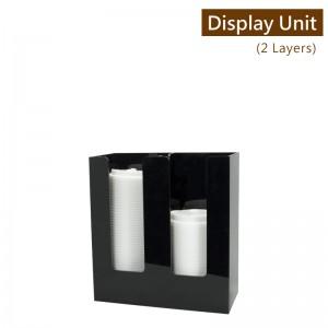 售完【冷靜收納架(直2格)-黑色】壓克力陳列架 杯架 杯蓋架 外帶包材收納架