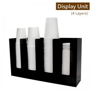 限量商品【冷靜收納架(直4格)-黑色】壓克力陳列架 杯架 杯蓋架 外帶包材收納架