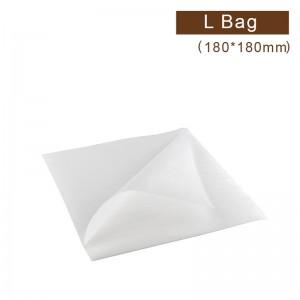 【珍珠舒美布 - L袋】180*180mm  純白色 漢堡袋、三明治袋、吐司袋 - 1箱5000個/1包500個