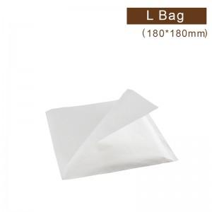 【防油淋膜L袋 - 白色】180*180mm 漢堡袋、三明治袋、吐司袋 - 1箱5000個/1包500個