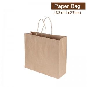 【厚 牛皮手提袋 - 大】牛皮紙袋 咖啡袋 高質感提袋 - 1箱300個/1束50個