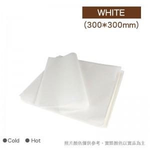 【防油淋膜紙 - 白色】300x300mm 30g - 1箱5000張/1包1000張
