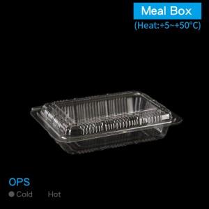 預購【OPS透明餐盒-2H】防霧  無毒 不可微波 159*113*40mm - 1箱2000個/1條100個