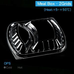 預購,【OPS透明餐盒蓋 - 方形/二格】 防霧 無毒 不可微波 233*201*30mm - 1箱250個