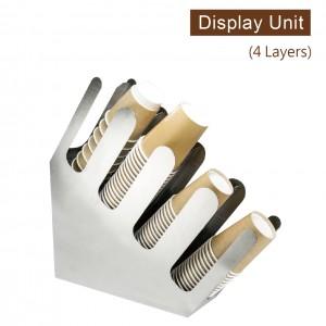 【工業風收納架(直角斜4格)-不鏽鋼】金屬陳列架 杯架 杯蓋架 外帶包材收納架