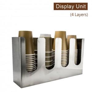 限量商品【工業風收納架(直4格)-不鏽鋼】金屬陳列架 杯架 杯蓋架 外帶包材收納架