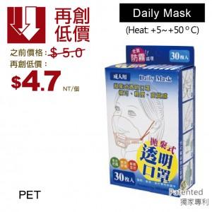 【拋棄式-透明口罩】獨家 專利 - 1箱300個/1盒30個 防飛沫 微笑透明口罩