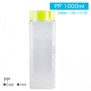 尚無現貨【PP鮮漾方瓶-1000ml】PP 飲料瓶 透明瓶 塑膠瓶  - 1箱120個/1包50個