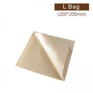 售完,補貨中【防油淋膜L袋 - 牛皮】200*200mm 漢堡袋、三明治袋、吐司袋 - 1箱6000個/1包500個