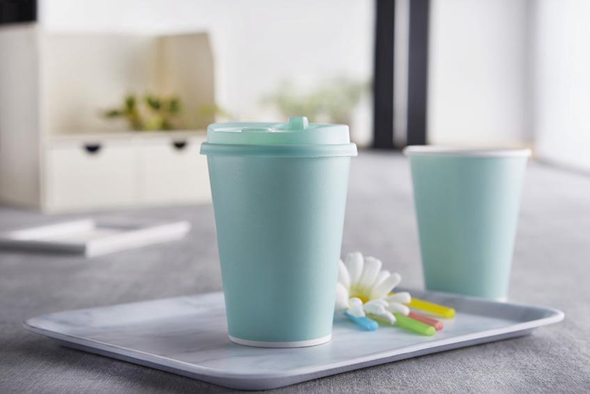 馬卡龍 冷熱共用杯12oz  90口徑 109mm 湖水綠 色杯 V690 杯蓋 360ml 防油 防水 雙面淋膜 咖啡紙杯 外帶紙杯 飲料杯 免洗杯 外帶杯 一次性紙杯 含蓋 帶蓋