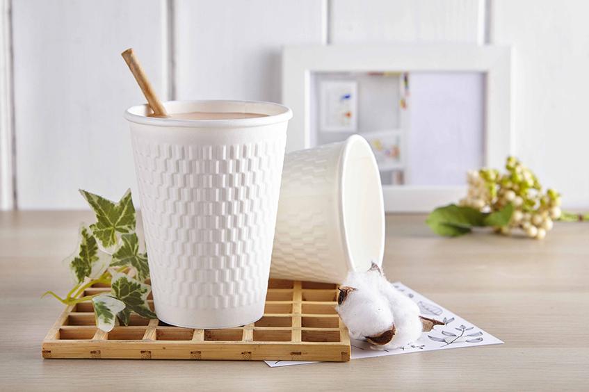 12oz 菱格紋 白杯 90口徑 112mm  360ml 熱杯 隔熱紙杯 熱飲杯 加厚紙杯 耐熱杯 防燙杯 雙層杯 隔熱 一次性紙杯 雙層熱飲紙杯 咖啡杯 PE單面淋膜