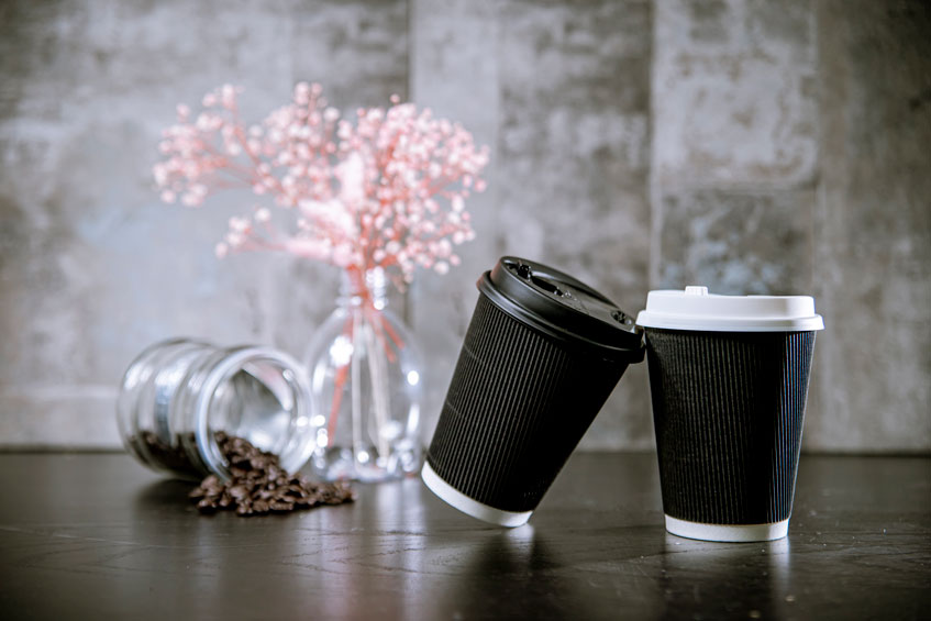 12oz 瓦楞雙層杯 黑杯 90口徑 110mm 360ml 質感 熱杯 隔熱紙杯 熱飲杯 加厚紙杯 耐熱杯 防燙杯 雙層杯 隔熱 一次性紙杯 雙層熱飲紙杯 咖啡杯 PE單面淋膜