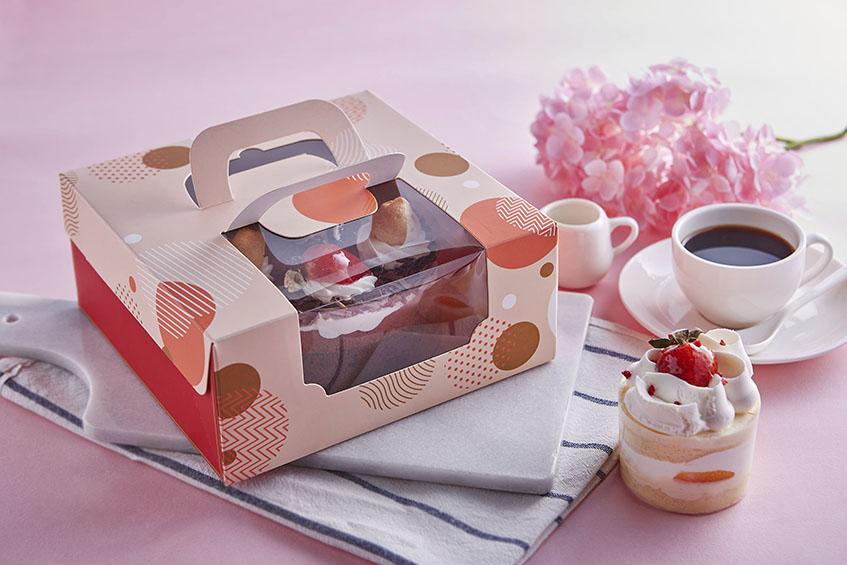 6吋開窗蛋糕提盒 日式和風 手提蛋糕禮盒 開窗提盒  西點盒 蛋糕盒 紙盒 糕點盒 精緻茶點 西點 烘焙包裝 六吋 20cm*20cm*9cm 禮物盒 蛋糕禮盒 手提蛋糕禮盒