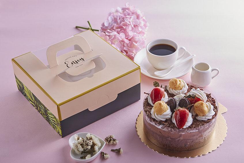 6吋開窗蛋糕提盒 叢林 手提蛋糕禮盒 開窗提盒  西點盒 蛋糕盒 紙盒 糕點盒 精緻茶點 西點 烘焙包裝 六吋 20cm*20cm*9cm 禮物盒 蛋糕禮盒 手提蛋糕禮盒
