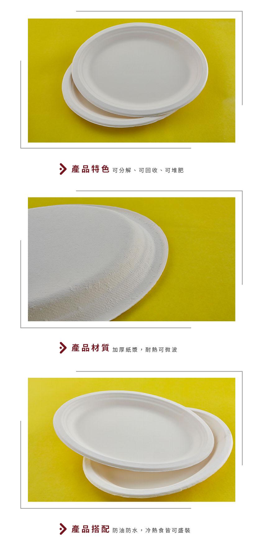 【紙漿盤 - 橢圓盤 10*8吋 (中)】190*255*20mm 白色 橢圓盤 免洗盤 紙盤 餐盤 免洗餐具