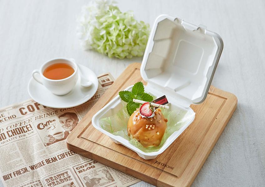 方形 加深款 漢堡盒 蛋糕盒 點心盒 外帶盒 環保餐盒 紙漿餐盒 甘蔗漿