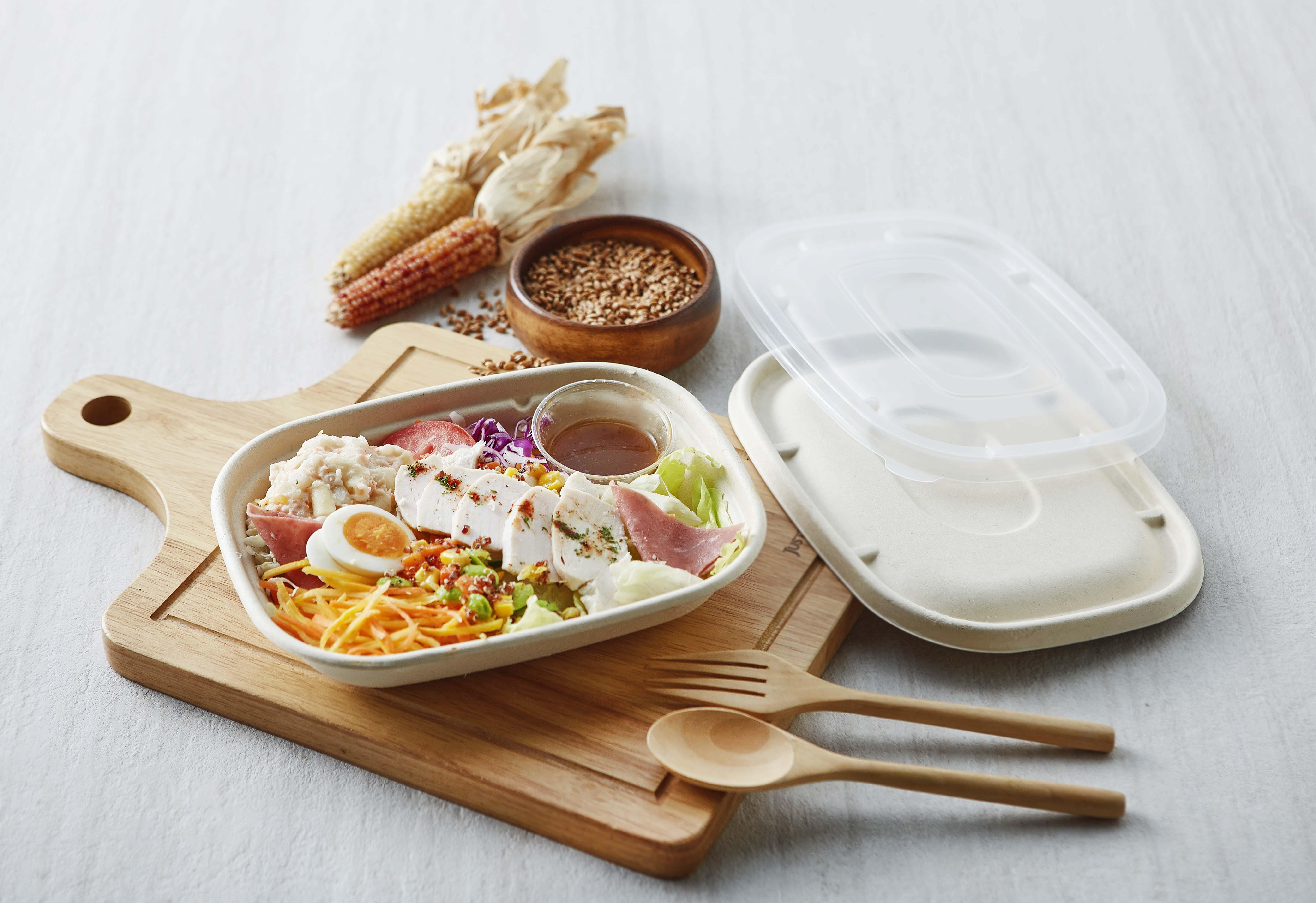 紙漿餐盒 環保餐盒 紙塑 沙拉盒 防疫 外帶 外送 打包盒 便當盒 一次性 植纖 可分解 可降解