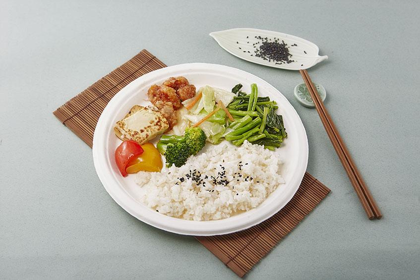 【紙漿盤 - 10吋】261*25.6mm白色 圓盤 免洗盤 紙盤 點心盤 餐盤 免洗餐具